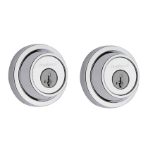 Kwikset 665CRR Smart Key Grade 3 Contemporary Double Cylinder Deadbolt Polished Chrome
