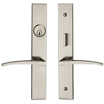 Baldwin Estate 6915 Santa Monica Mortise Entrance Set Satin Nickel