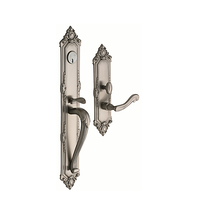 Baldwin Estate 6950 Kensington Full Plate Mortise Handleset in Satin Nickel