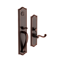 Baldwin Estate 6963 Bristol Full Plate Mortise Handleset in Venetian bronze (112