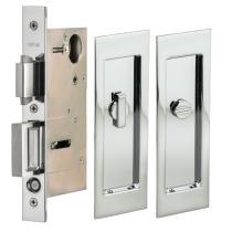 Omnia 7035/L.26 Modern Rectangular Privacy Pocket Door Lock
