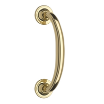 Omnia 711 Curved Door Pull Polished Brass (US3)