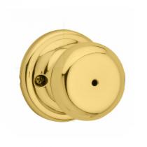 Kwikset Signature Series 730J-3 Juno Privacy Knob Polished Brass