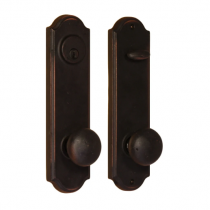 Weslock 7641-us10b Tramore Handleset with Wexford Knob Oil Rubbed Bronze