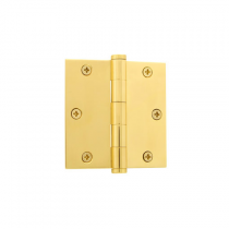 "Grandeur 819972 3.5"" Button Tip Hinge with Square Corners Polished Brass"
