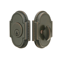 Emtek 8459 Knoxville Single Cylinder Deadbolt Oil Rubbed Bronze (US10B)