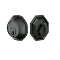 Emtek 8460 Octagon Style Single Cylinder Deadbolt Flat Black (FB)