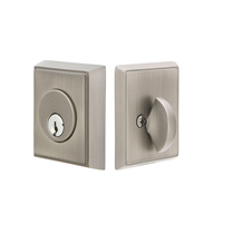 Emtek 8468 Rectangular Single Cylinder Deadbolt Pewter (US15A)