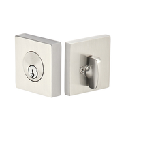 Emtek 8469 Square Single Cylinder Deadbolt Satin Nickel (US15)