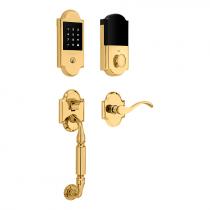 Baldwin 85306.003 Canterbury Touchscreen Keyless Handleset Lifetime Polished Brass (003)