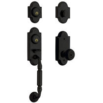 Baldwin Estate 85365 Ashton Two-Point Handleset Satin Black (190)