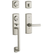Baldwin 85385 Soho Handleset w/Soho Lever in Lifetime Polished Nickel (055)