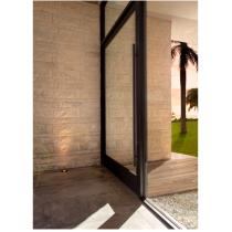 """Emtek 86188 72"""" Long Door Pull shown in Flat Black Stainless Steel"""