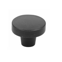 Emtek Sandcast Bronze Rustic Modern Round Knob - 86660, 86661 Flat Black