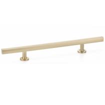 Emtek 86683 Urban Modern Freestone Extended Cabinet Pull Satin Brass