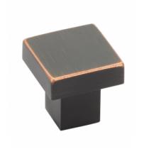 Emtek 86702 Modern Rectangular Hunter Cabinet Knob Oil Rubbed Bronze (US10B)