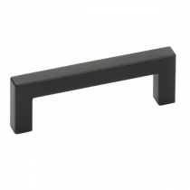 Emtek 86704 Modern Rectangular Warwick Cabinet Pull Flat Black (US19)