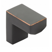 Emtek 86713 Modern Rectangular Keaton Cabinet Knob Oil Rubbed Bronze (US10B)