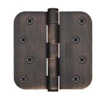 Emtek 4 x 4 Steel residential radius corner duty hinge 91034