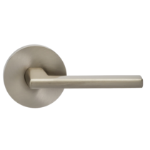 Omnia 925MD-15 Contemporary Door Lever Set with Modern Rose