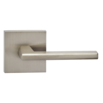Omnia 925SQ-15 Contemporary Door Lever Set with Square Rose