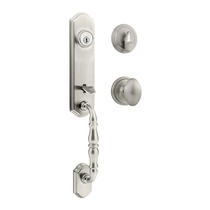 Kwikset Amherst Handleset shown w/Laurel Knob in Satin Nickel (15)