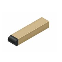 "Deltana BDSR40U4 4"" Contemporary Half-Cylinder Tip Solid Brass Baseboard Bumper Satin Brass"