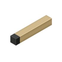"""Deltana BDSS40U4 4"""" Modern Square Solid Brass Baseboard Bumper Brushed Brass"""