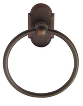 Emtek 2601 Brass Towel Ring with #8 Rose Oil Rubbed Bronze (US10B)