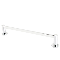 Emtek 28021, 28022, 28023 Modern Brass Towel Bar with Small Disc Rose