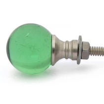PotteryVille Green Glass Magic Crystal Ball Style Knob