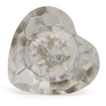 PotteryVille Clear Heart Shaped Glass Knob