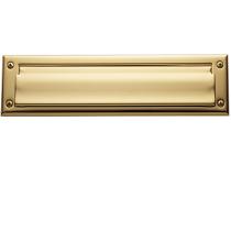 Baldwin 0014 Package Size Double Flap Letter Box Plate Lifetime Finish Brass
