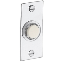 Baldwin 4853 Rectangular Bell Button in Polished Chrome (260)