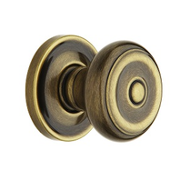 Baldwin Estate 5020 Knob Set Satin Brass and Black (050)