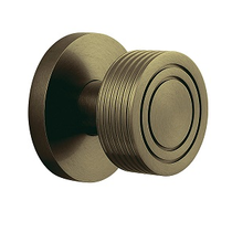 Baldwin Estate 5045 door Knob Set Satin Brass and Black (050)
