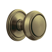 Baldwin Estate 5068 door Knob Set Satin Brass and Black (050)