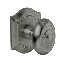 Baldwin Estate 5077 Bethpage door Knob Set Distressed Antique
