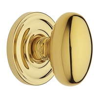 Baldwin Estate Pre-Configured 5025 Egg Door Knob Set Lifetime Polished Brass