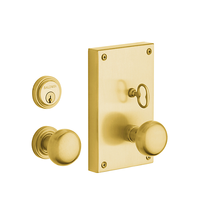 Baldwin Estate 6550 Georgetown Mortise Entrance Set in Satin Brass