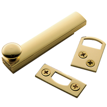 "Baldwin General Purpose 3 ""Surface Bolt in Polished Brass (030)"