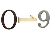 Baldwin House Numbers. Availalbe in numerals 0-9
