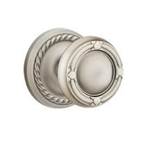 Emtek Ribbon and Reed Door Knob with Rope Rose Pewter (US15A)