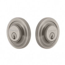 Grandeur Circulaire Double Cylinder Deadbolt Satin Nickel