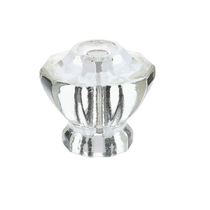 Emtek 86017, 86210 Astoria Clear Cabinet Knob w/ Satin Nickel Screws (US15)