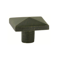Emtek Sandcast Bronze Square Cabinet Knob 86145, 86146 Medium Bronze Patina (MB)