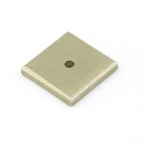 Emtek 86342 Sandcast Bronze Square Cabinet Knob Backplate Tumbled White Bronze