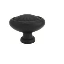 Emtek Tuscany Bronze Egg Cabinet Knob 86093, 86094, 86143 Flat Black Patina (FB)