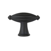 Emtek Tuscany Bronze Fluted Finger Cabinet Knob 86227, 86228 Flat Black Patina