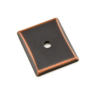 Emtek 86420 Neos Backplate For Knob Oil Rubbed Bronze (US10B)